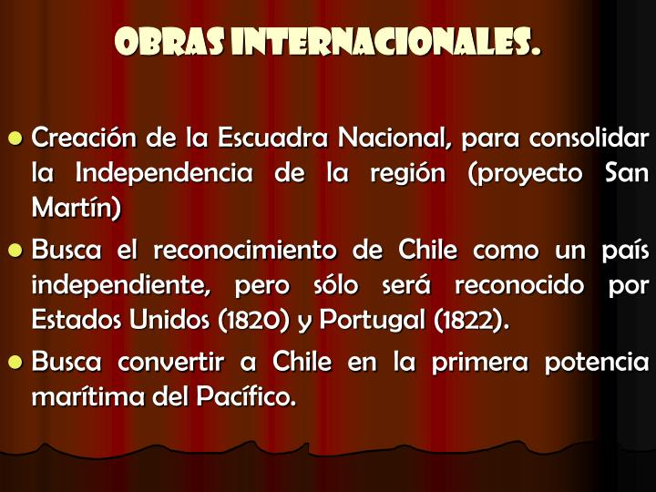 Obras Internacionales.