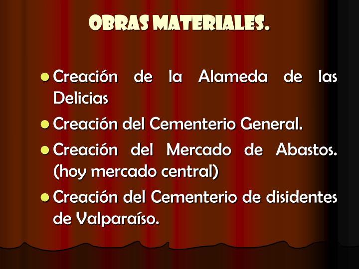 Obras Materiales.
