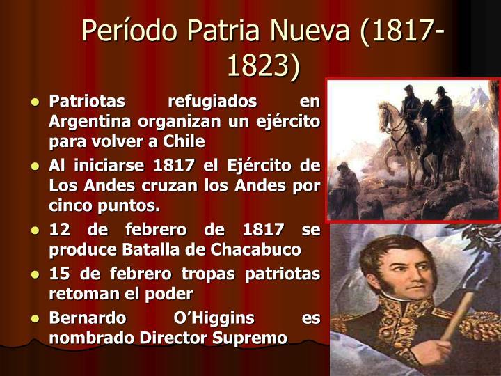 Período Patria Nueva (1817-1823)