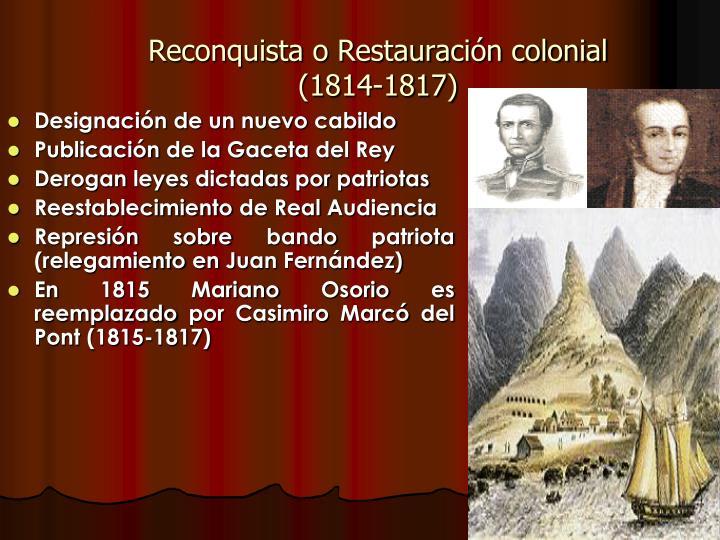 Reconquista o Restauración colonial