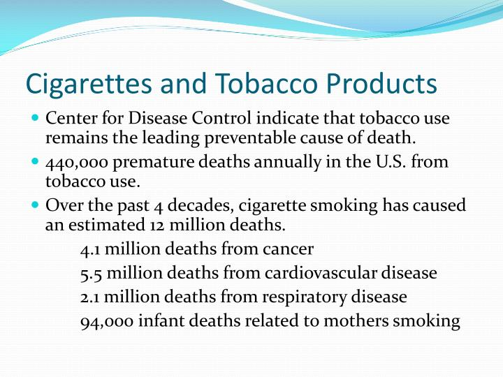 Cigarettes and Tobacco Products