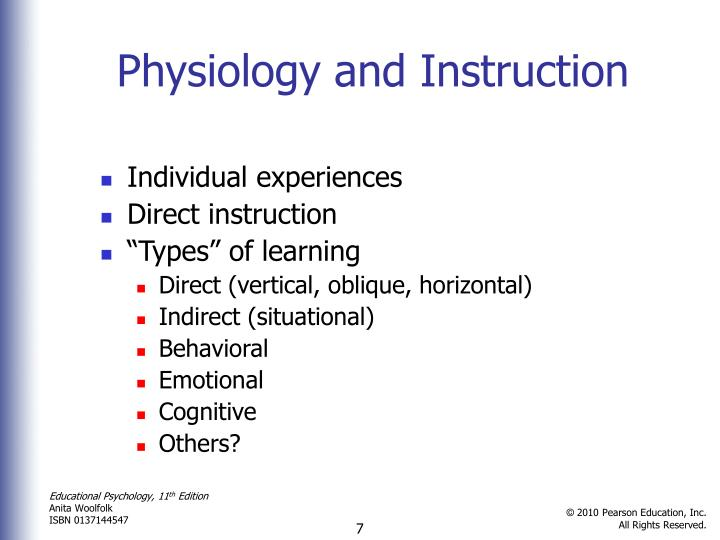 Physiology and Instruction