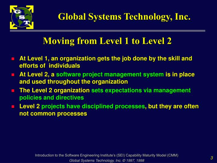 Moving from level 1 to level 2