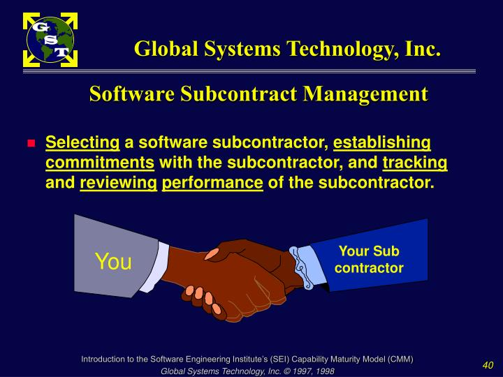 Software Subcontract Management