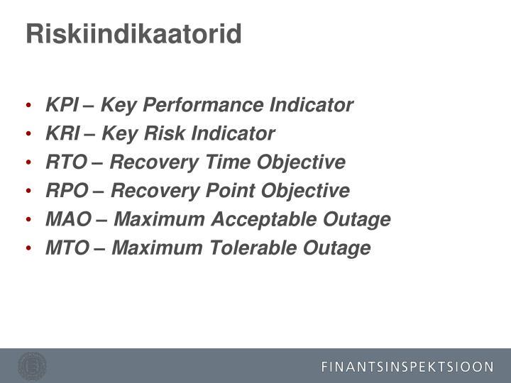 Riskiindikaatorid