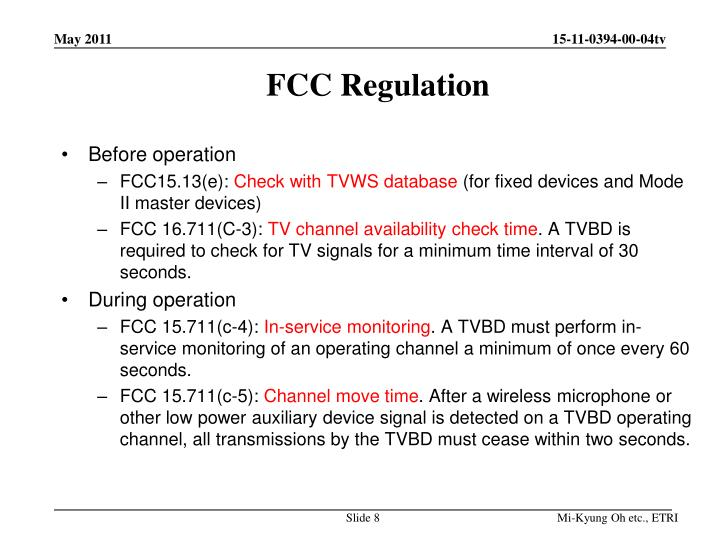 FCC Regulation