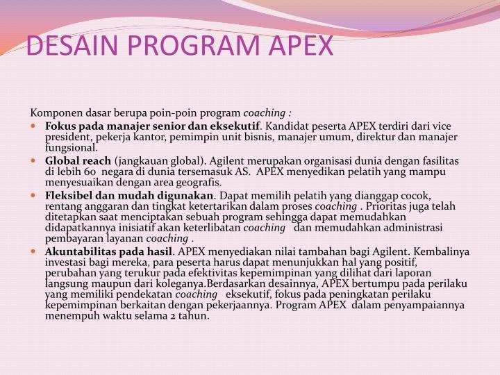DESAIN PROGRAM APEX