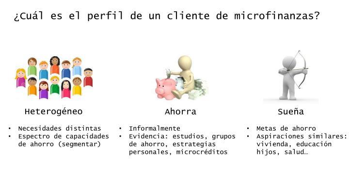 ¿Cuál es el perfil de un cliente de microfinanzas?
