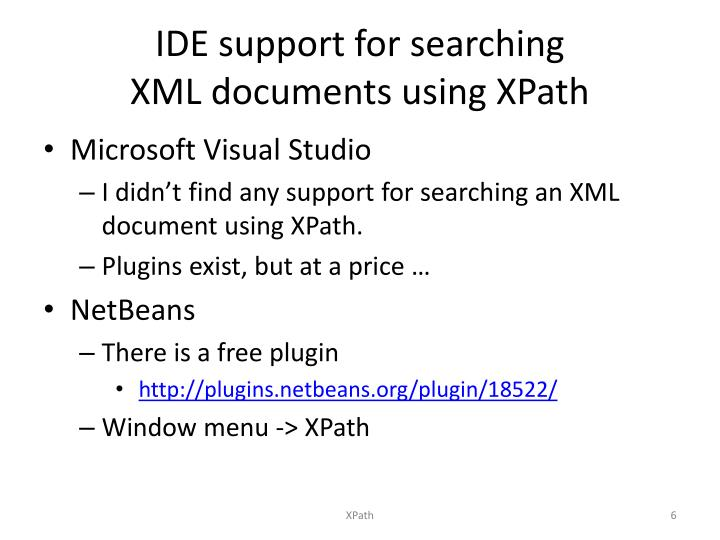 IDE support for searching