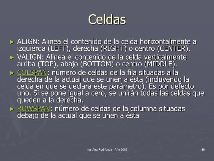 Celdas