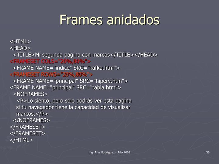 Frames anidados
