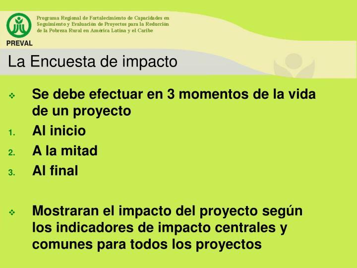 La Encuesta de impacto