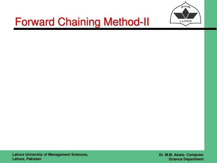 Forward Chaining Method-II