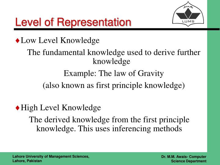 Level of Representation