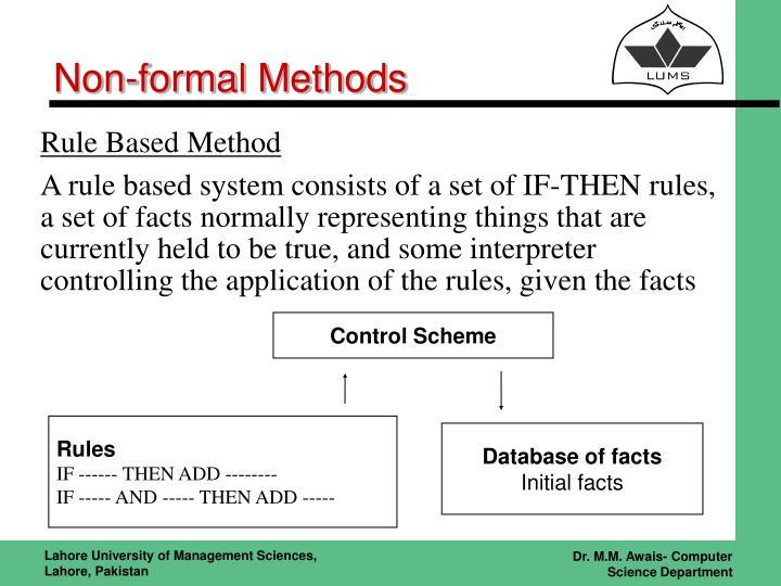 Non-formal Methods