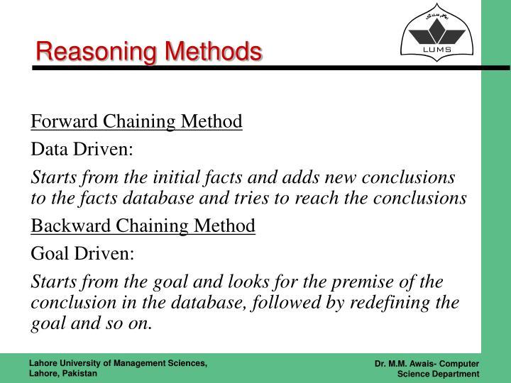 Reasoning Methods