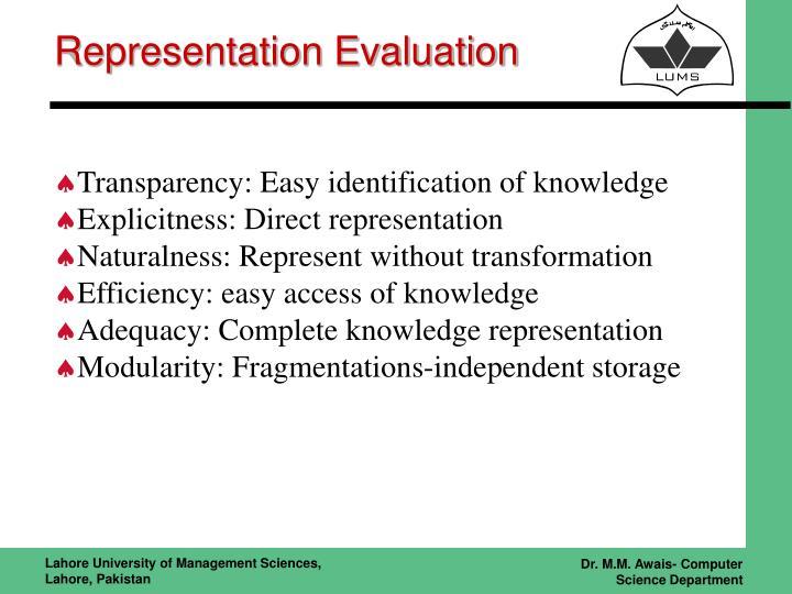 Representation Evaluation