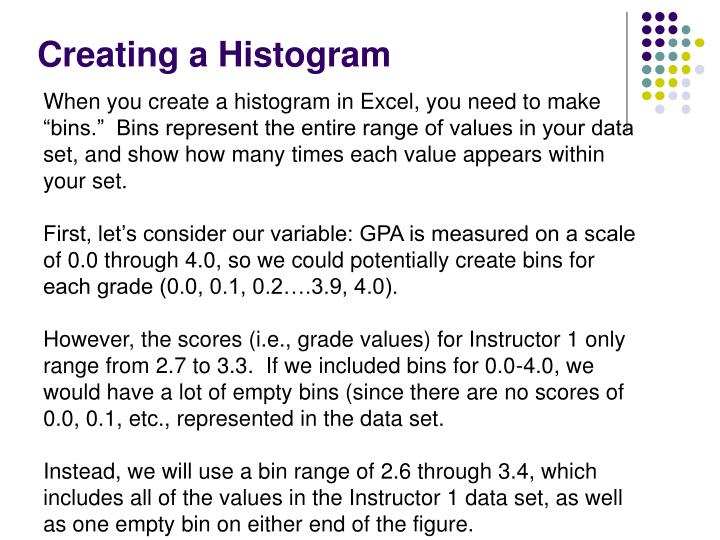 Creating a Histogram