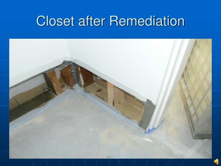 Closet after Remediation