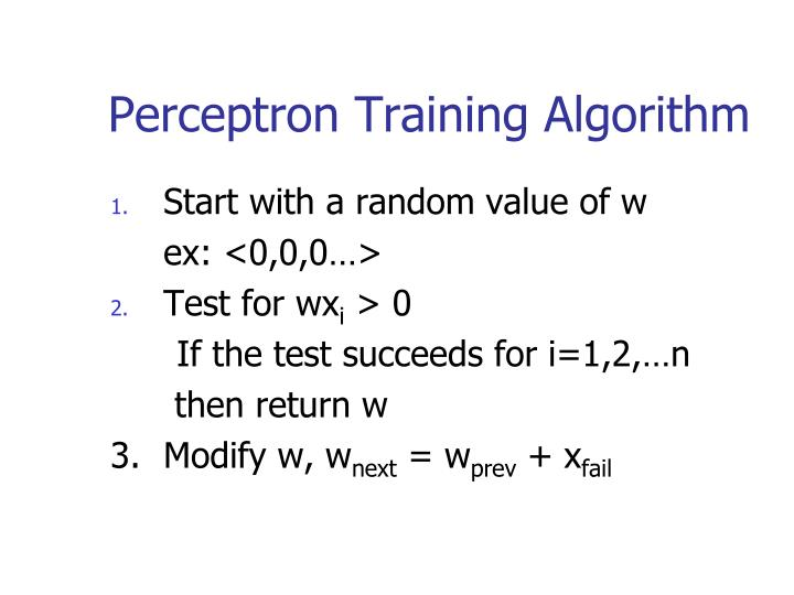 Perceptron Training Algorithm