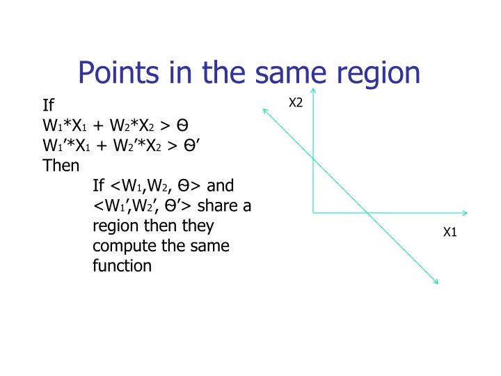 Points in the same region
