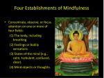 four establishments of mindfulness
