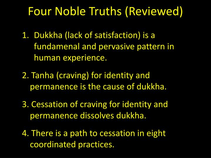 Four noble truths reviewed