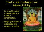 two foundational aspects of mental training