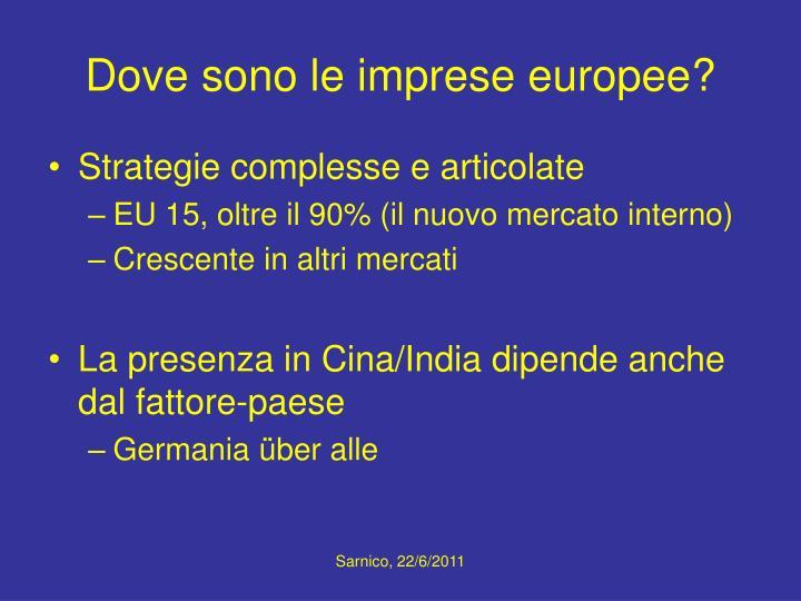Dove sono le imprese europee?