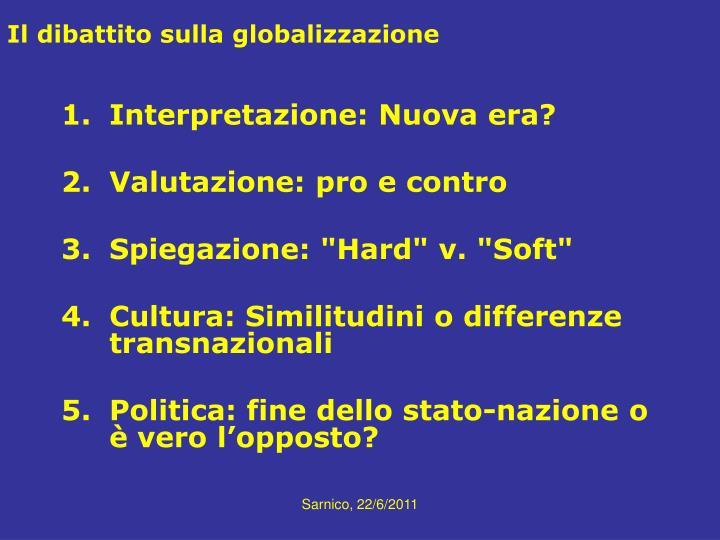 Il dibattito sulla globalizzazione