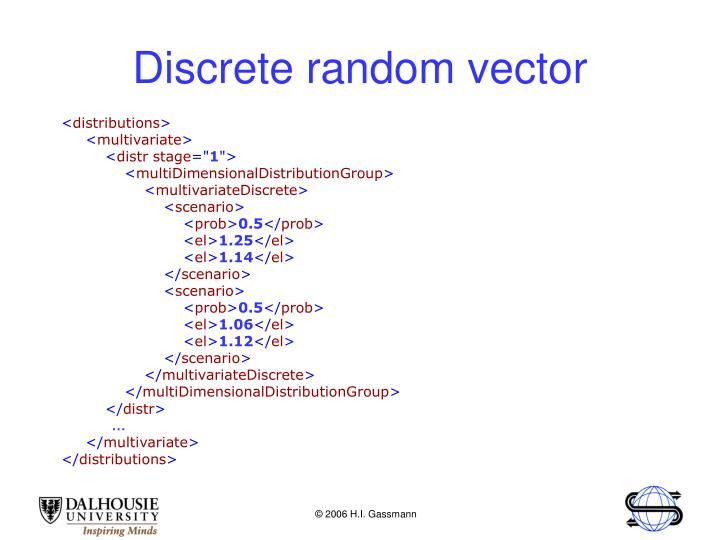 Discrete random vector
