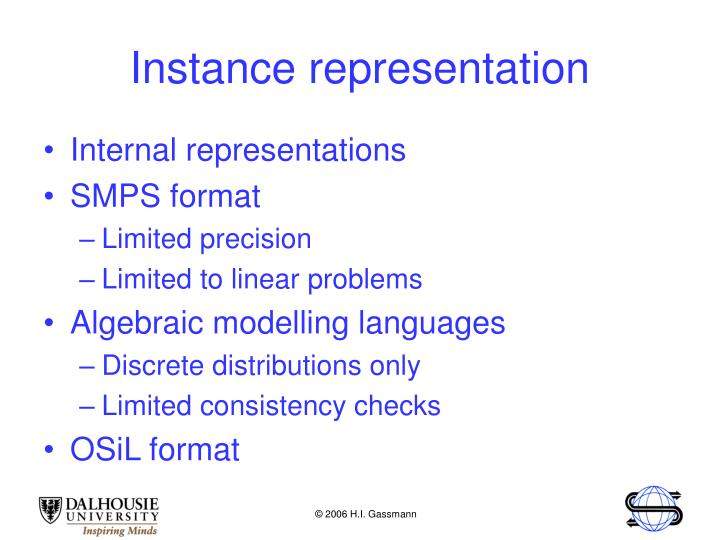 Instance representation