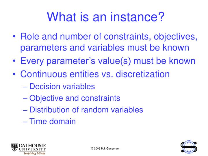 What is an instance?