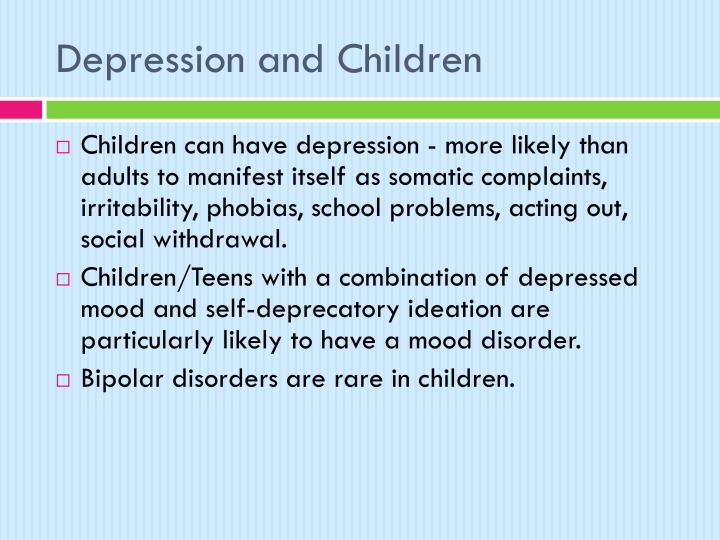 Depression and Children