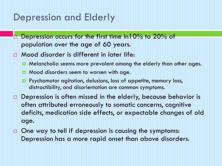 Depression and Elderly