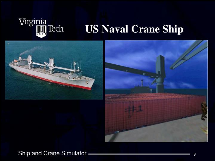 US Naval Crane Ship