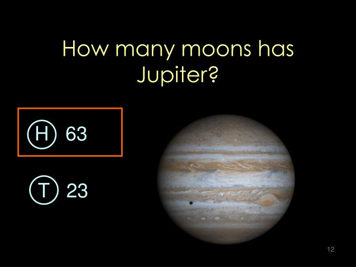 How many moons has Jupiter?