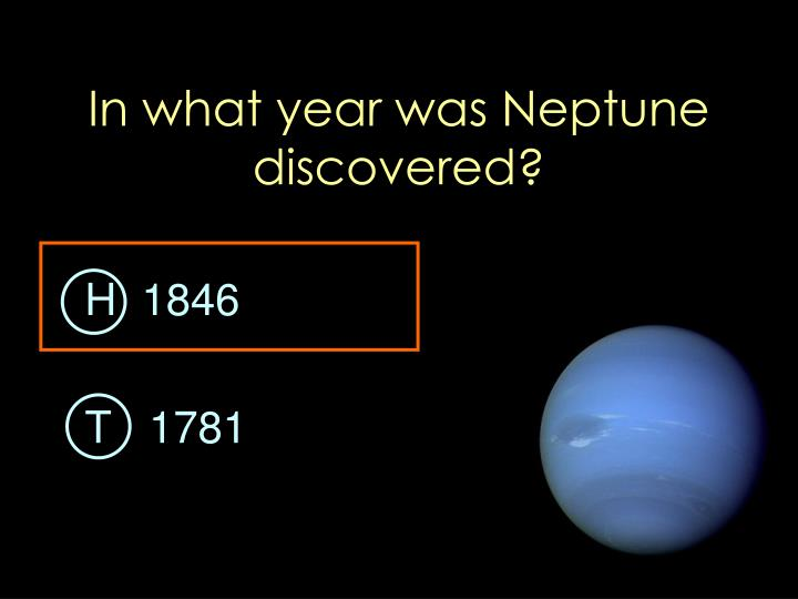 In what year was Neptune discovered?