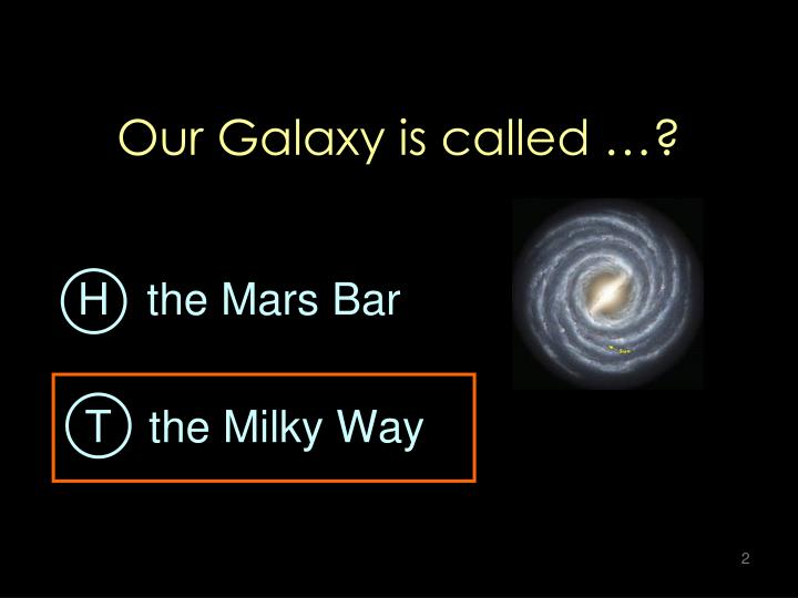Our Galaxy is called …?