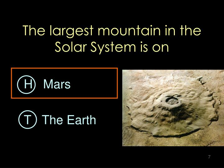 The largest mountain in the Solar System is on