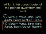 which is the correct order of the planets away from the sun