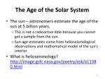 the age of the solar system12