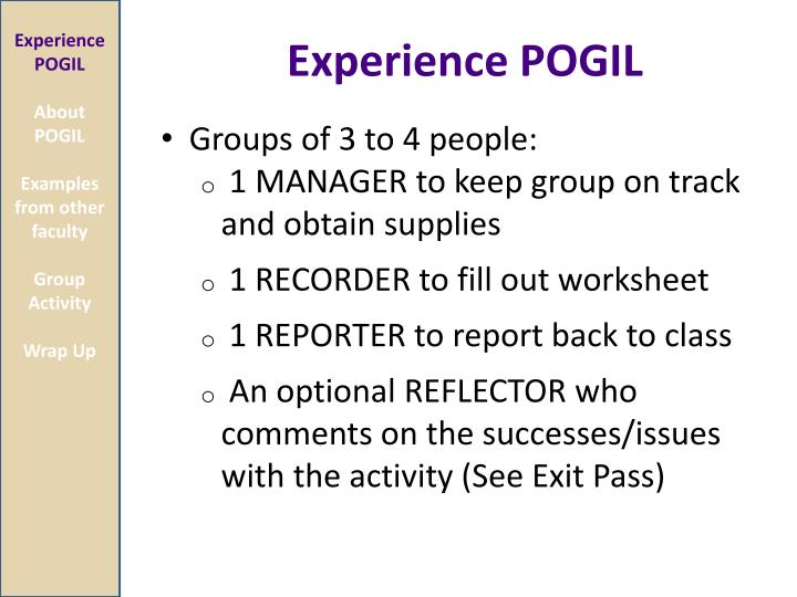 Experience POGIL