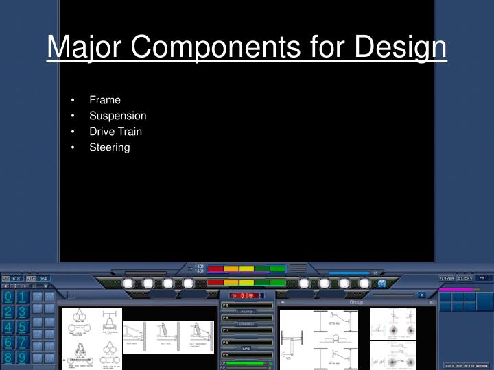 Major Components for Design