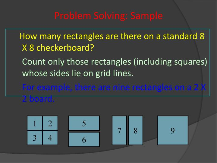 Problem Solving: Sample