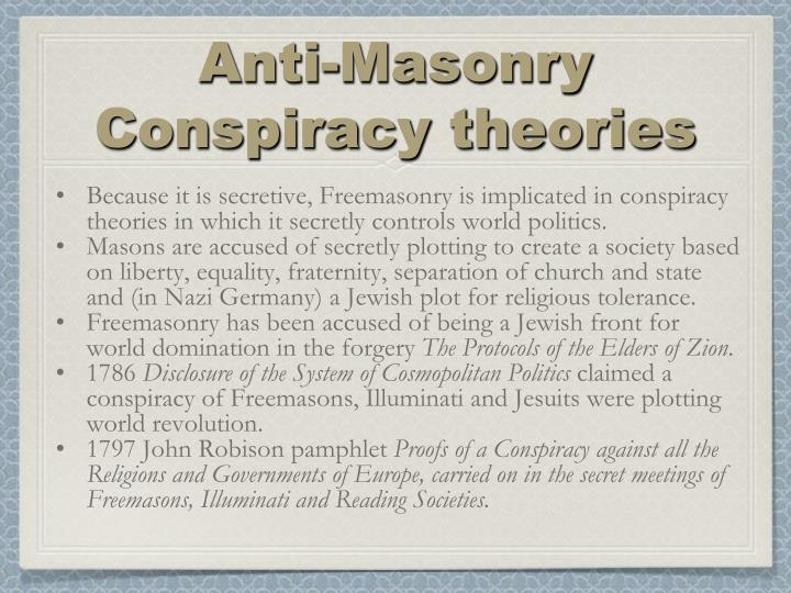 Anti-Masonry Conspiracy theories