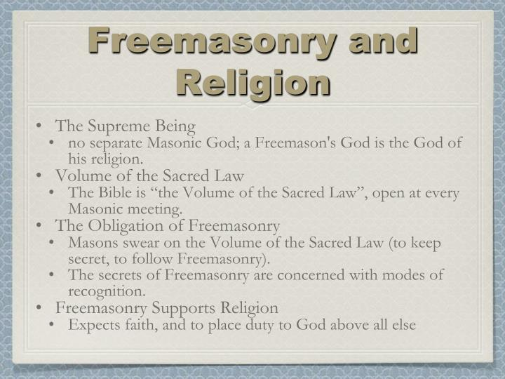 Freemasonry and Religion
