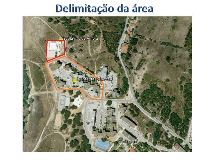 Delimitação da área