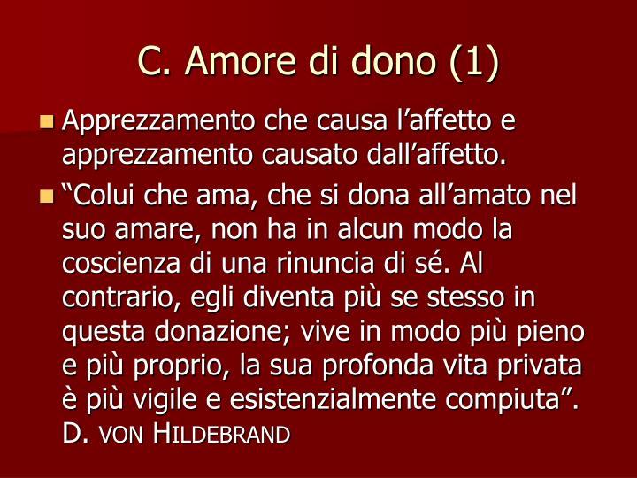 C. Amore di dono (1)