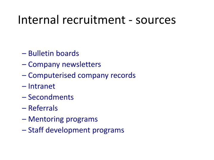 staff notice boards in internal recruitment